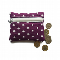 Purple Star coin purse