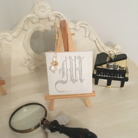 """""""M"""" is for Mum! Initial on Mini Canvas, with a Swarovski Sparkle!"""