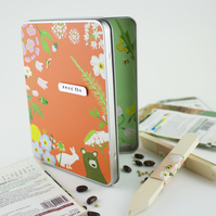 Garden Seed Storage Tin and Markers