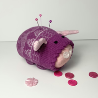 Penelope Sock Pig Pin Cushion