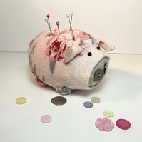 Rose Sock Pig Pin Cushion