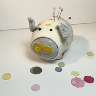 Flora Sock Pig Pin Cushion