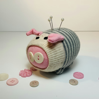 Pinky Sock Pig Pin Cushion