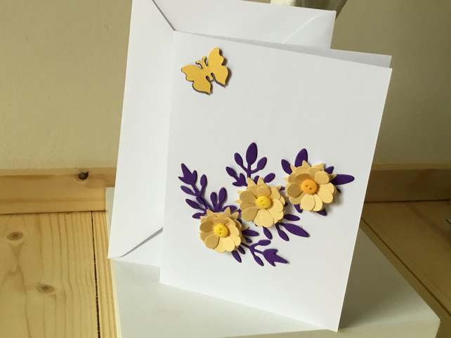 Pretty flower card for any occasion CC278