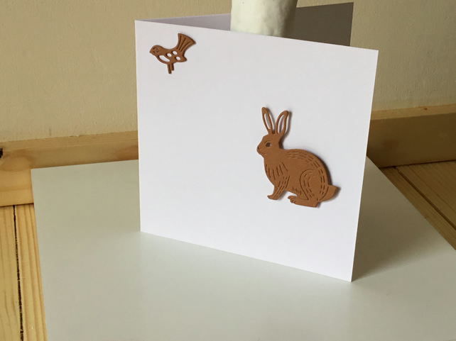 A cute rabbit card or gift tag CC283