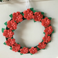 Pretty paper flower christmas wreath CC302