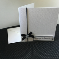 Pack of 4 evening invitations to complete at home. CC305