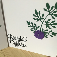 A pretty handmade flower Birthday card. CC310