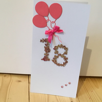 Flower 18th Birthday card CC088