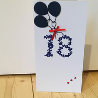 18th Birthday or Anniversary card CC090