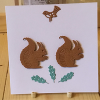 A cute little card with two squirrels munching away. Any occasion card. CC284
