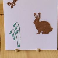 A cute rabbit card or gift tag. ANy occasion card. CC283
