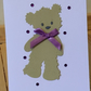 Cute teddy bear card. CC351