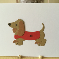Cute sausage dog card for any occasion. CC355