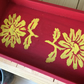 Hand painted and stencilled tray. CC372