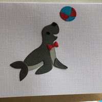 Sammy the happy seal. A card suitable for any occasion. CC390
