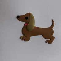 Any occasion card. Sausage dog card. CC389
