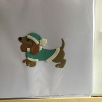 Bobby the Sausage dog. Any occasion card. CC387