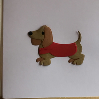 Cecil the Sausage dog. A card for any occasion. CC388