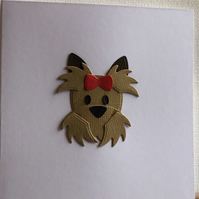 A small dog card. Any occasion card. Gift card CC379