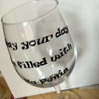 Ha-penis wine glass. CC399