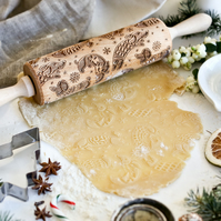 Dogs In Christmas Jumpers Embossing Rolling Pin
