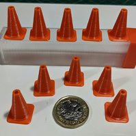 Model traffic cones with storage box
