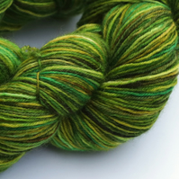 Winter Greens - Superwash Bluefaced Leicester 4 ply yarn
