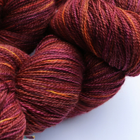 Deep Autumn - Silky Bluefaced Leicester laceweight yarn