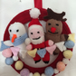 Cute and cuddly Christmas wreath