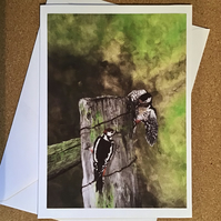 Two Woodpeckers card