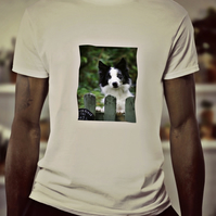 Border Collie at the gate t-shirt