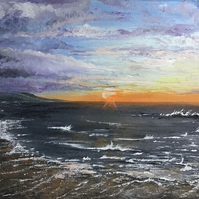 Porthmeor sunset painting