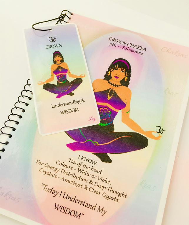 CROWN CHAKRA - Purple - Sahasrara - Notebook Set with FREE Bookmark - Livz