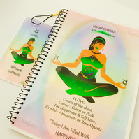 HEART CHAKRA - Green - Anahata. Notebook Gift Set. Affirmation, FREE Bookmark.