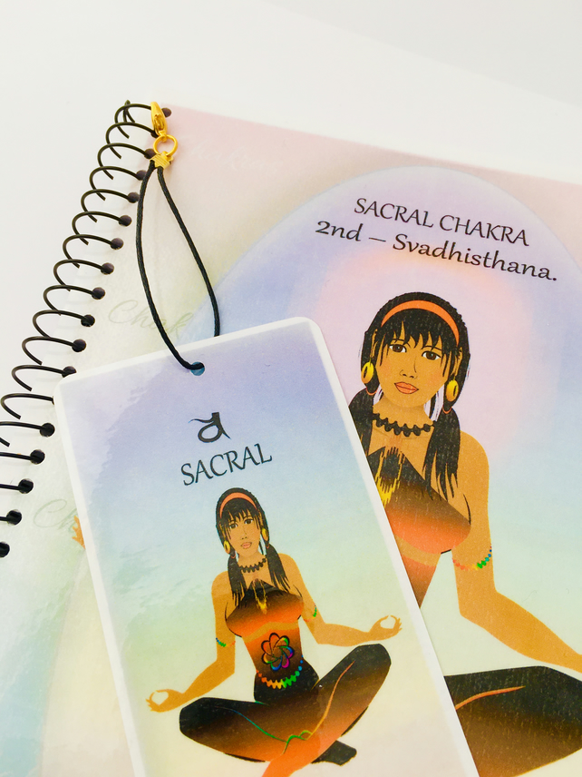 SACRAL CHAKRA - Orange - Svadhisthana. Journal Gift Set  with FREE Bookmark.