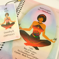 ROOT CHAKRA - Red - Maladhara. Notebook Gift Set Affirmation & FREE Bookmark
