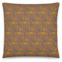 18 inch GREY AMBER Cushion cover with Insert. Original Print by Livz Design.