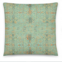 18 inch SAGE OLD LACE - Cushion cover with Insert. Original Print by Livz Design