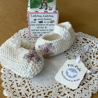 Hand Knitted Baby Mary Jane Booties