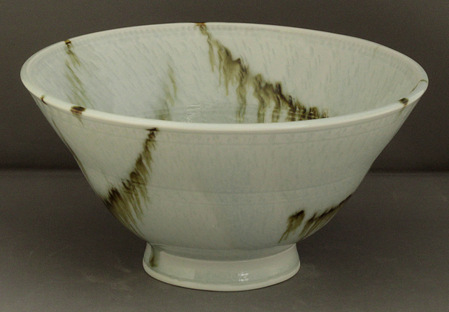 Pottery bowl 9540 porcelain h100 x 212mm 856g