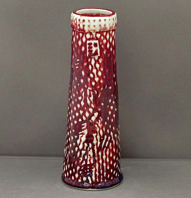 Pottery vase 9526 porcelain h220x80 mm 587 gms