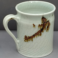 Pottery mug 9920 porcelain h101 x 82mm 384g