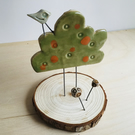 Tree and bird decoration with stand
