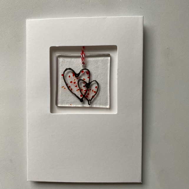 Two Hearts keepsake card