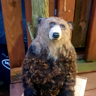 Handmade Needle felted Large Grizzly Bear sculpture by Countryjewells