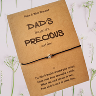 Dad's Charm Wish Bracelet, Father's Day Gifts for Dad