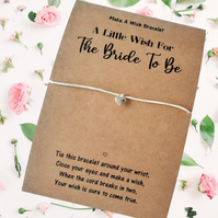 Bride To Be Wish Bracelet, Hen Do Gifts for Brides, Pre Wedding Gifts