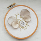 Mini Bee Embroidery Hoop, Hand Embroidered Wall Art