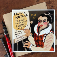 have You Heard Of..? Illustrated women from history postcard -LAVINIA FONTANA-